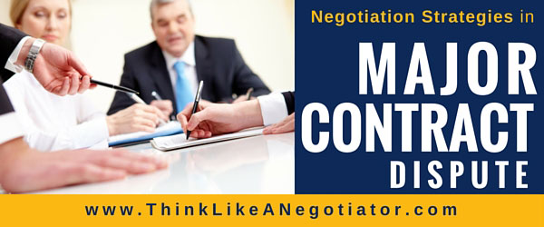 How to handle a major contract dispute