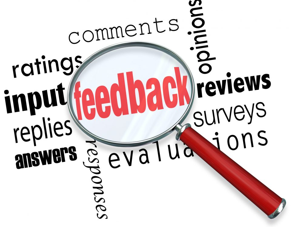 Feedback is an important part of our lives!
