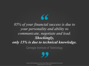 85% of your financial success...